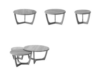 Curve three coffee tables