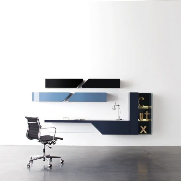 Desk & Wall Unit Cubo Cut-X 691